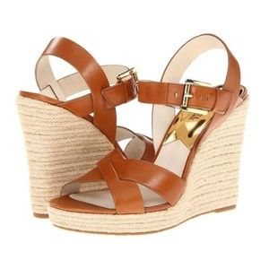 MICHAEL KORS Espadrille Wedge Platform Sandals 11